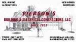 Piersons Building & Electrical Contractors, LLC Logo